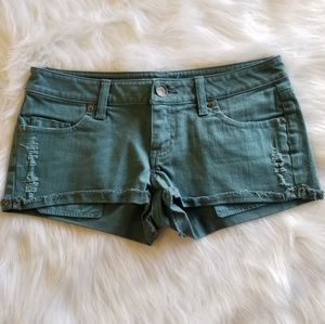 VS Cheeky Jean Shorts Size 4 Teal